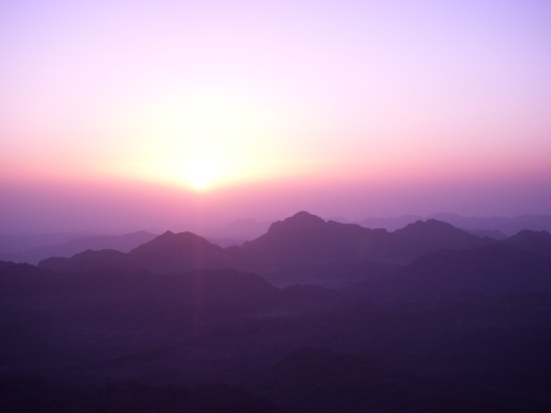 Sunrise from top of Mt. Sinai