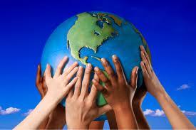 hands on globe